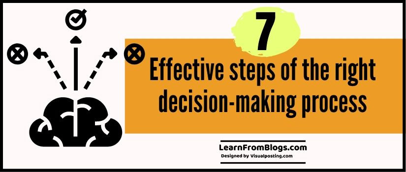 7 effective steps of the right decision-making process