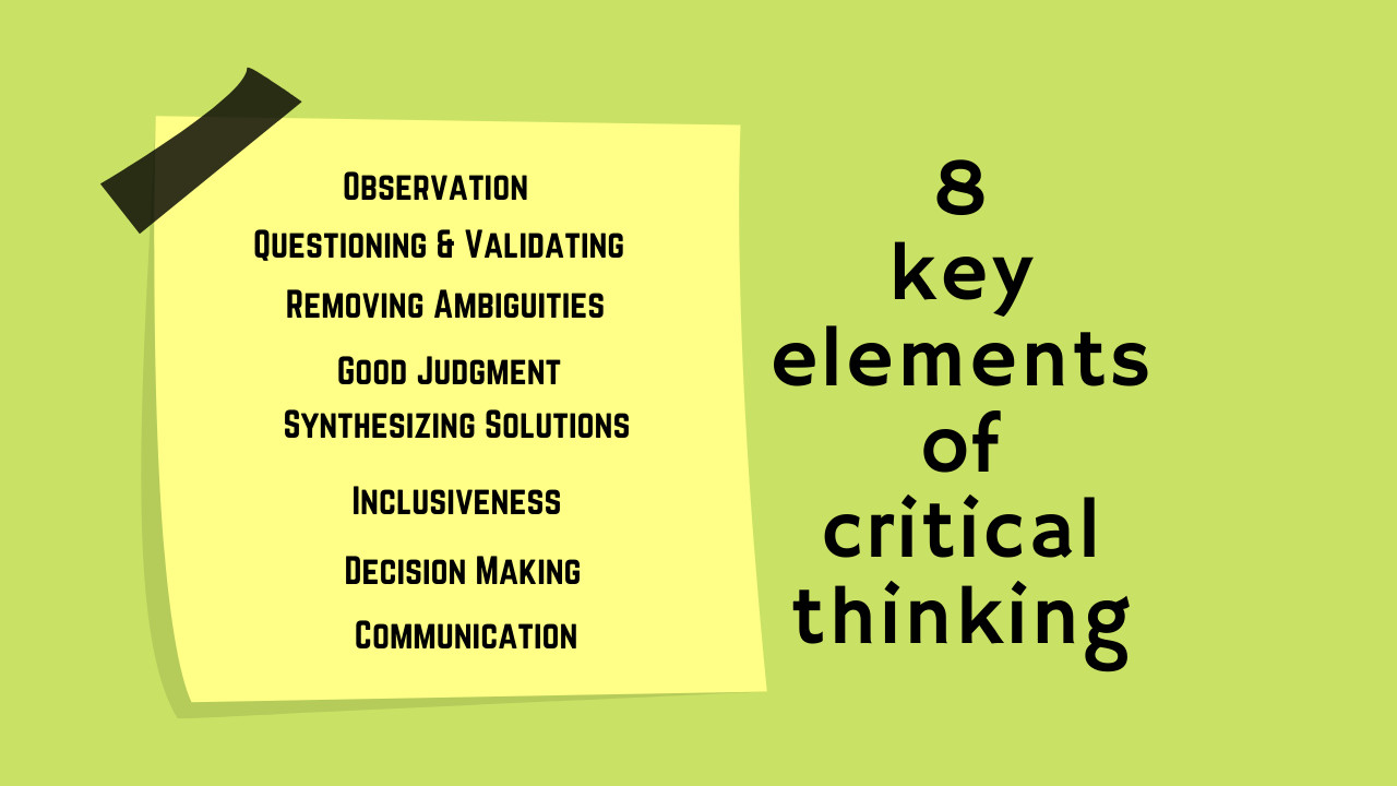 What are the main elements of Critical Thinking?