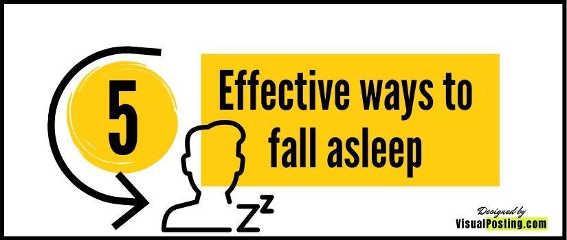 5 effective ways to fall asleep