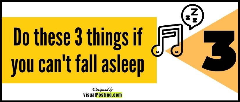 Do these 3 things if you can't fall asleep