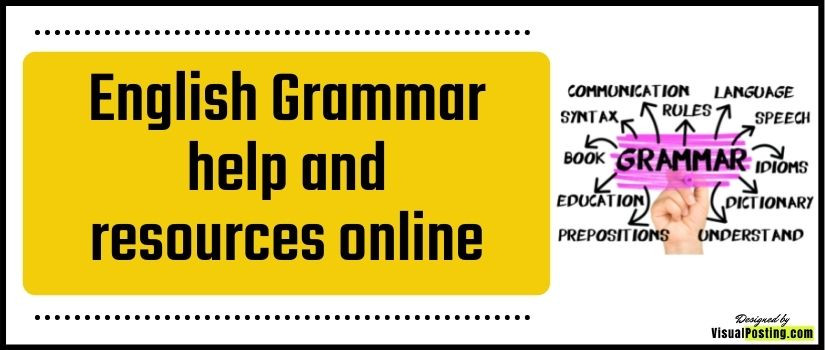 English Grammar help and resources online