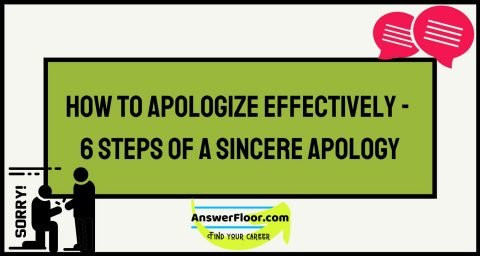 How To Apologize Effectively - Steps of a Sincere Apology