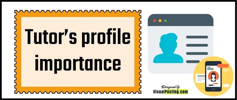 Tutor's profile importance
