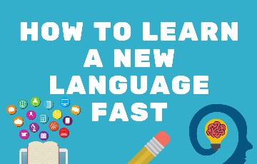 How to learn a new language fast