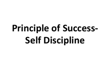 What is the Principle of success?