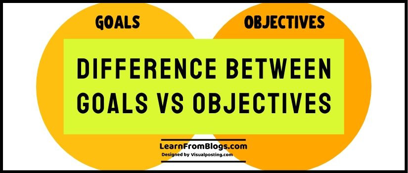 Difference between Goals vs Objectives