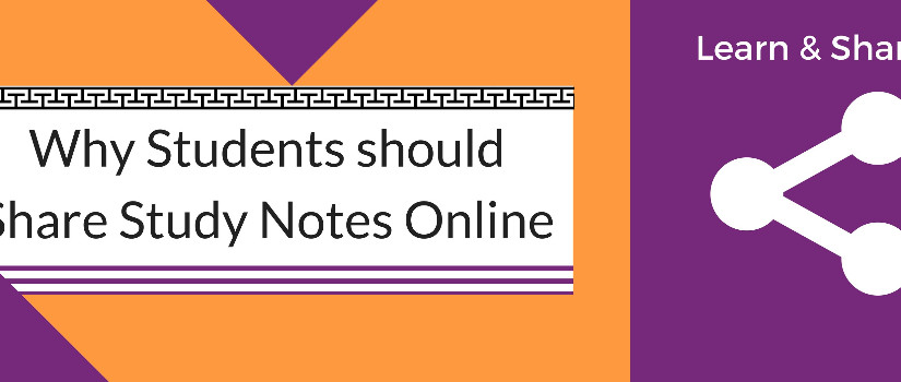 Why Students should Share Study Notes Online