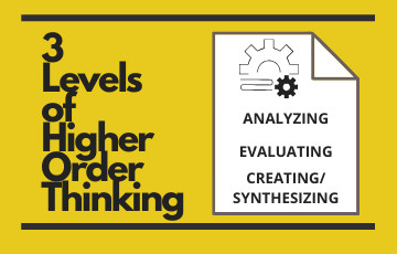 3 Levels of Higher Order Thinking:
