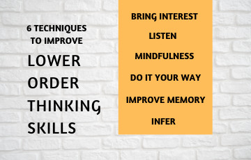 How can I Improve my Lower Order Thinking Skills?