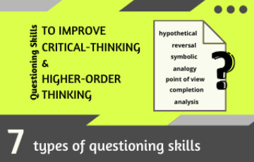 7 Types of Questioning skills to Improve Critical Thinking and Higher Order Thinking