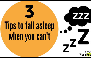 3 tips to fall asleep when you can't