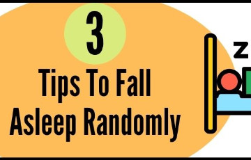 3 tips to fall asleep randomly