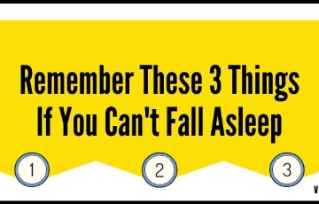 Remember these 3 things if you can't fall asleep