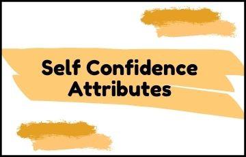 Self Confidence attributes