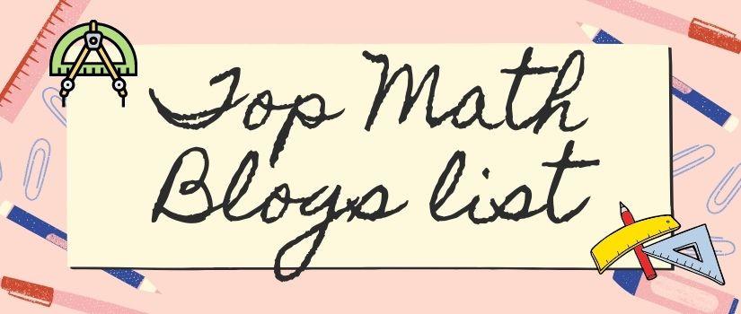 Top Math Blogs list