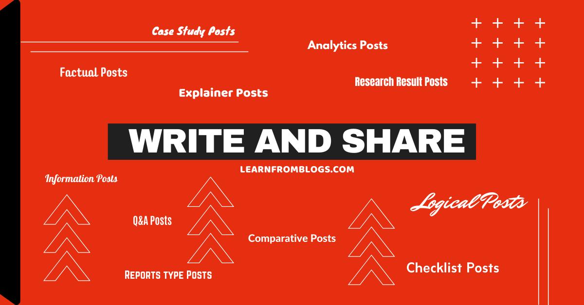 Write and share
